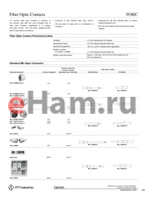FOHC-SG1219JN datasheet - Fiber Optic Contacts