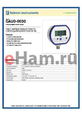 GAUD-0030 datasheet - 0-30 psig Digital Pressure Gauge