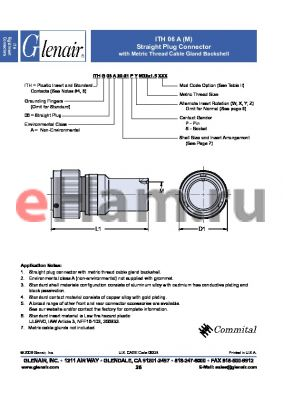 ITH06A24PW datasheet - Straight Plug Assembly