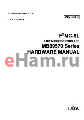 MB89P579A datasheet - F2MC-8L 8-BIT MICROCONTROLLER