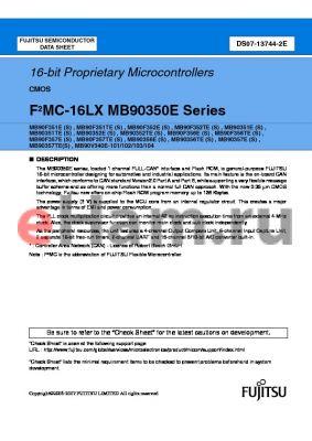 MB90352TEPMC datasheet - 16-bit Proprietary Microcontrollers