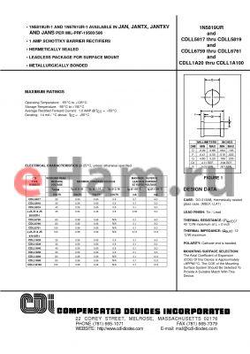J6761UR-1 datasheet - 1 AMP SCHOTTKY BARRIER RECTIFIERS