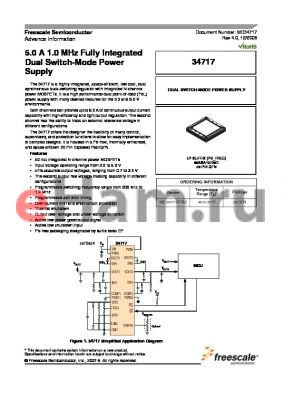 MC34717 datasheet - 5.0 A 1.0 MHz Fully Integrated Dual Switch-Mode Power Supply