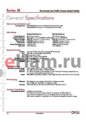 JB15HBPF-BB datasheet - Illuminated Low Profile Process Sealed Tactiles