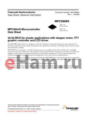 PPC5606CEVMG datasheet - Microcontroller