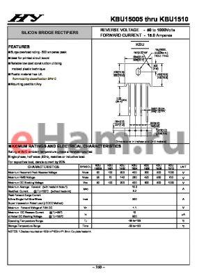KBU1506 datasheet - SILICON BRIDGE RECTIFIERS