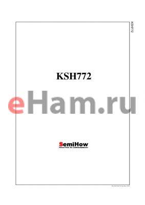 KSH772 datasheet - Audio Frequency Power Amplifier