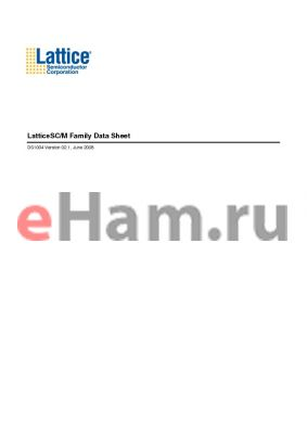 LFSCM3GA115KLUTSEP1F256C datasheet - LatticeSC/M Family Data Sheet
