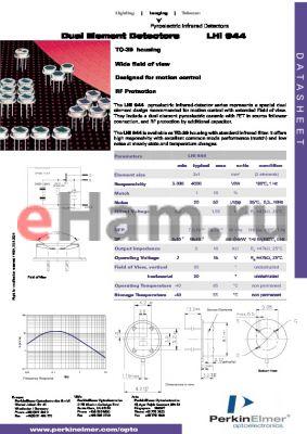 LHI944 datasheet - Dual Element Detectors