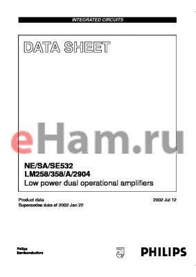LM258D datasheet - Low power dual operational amplifi