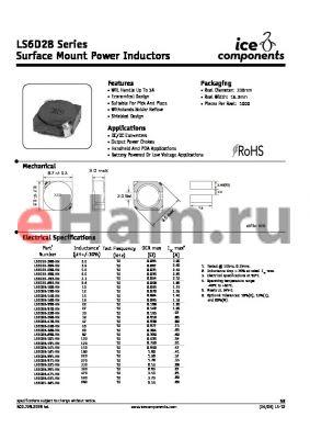LS6D28-8R6-RN datasheet - Surface Mount Power Inductors