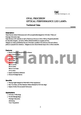 MVL-683TUOL datasheet - OVAL PRECISION OPTICAL PERFORMANCE LED LAMPs