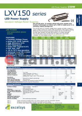 LXV150-036S datasheet - LED Power Supply