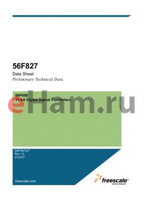 DSP56F826-827UM datasheet - 16-bit Digital Signal Controllers