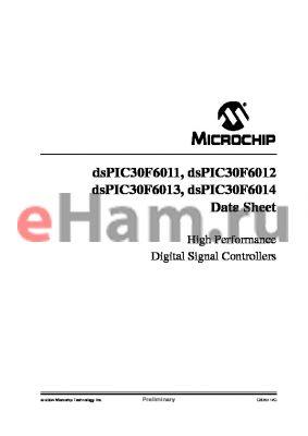 DSPIC30F6012AT-30E/PF-ES datasheet - High Performance Digital Signal Controllers