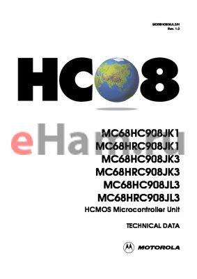 MC68HC908JL3CP datasheet - MC68HC908JK1