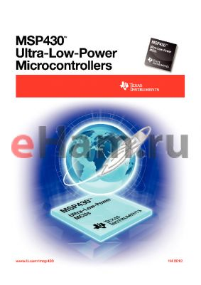 MSP430F4260 datasheet - ULTRA-LOW-POWER MICROCONTROLLERS