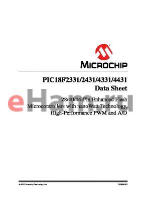 PIC18LF2331-E/ML datasheet - 28/40/44-Pin Enhanced Flash Microcontrollers with nanoWatt Technology, High-Performance PWM and A/D