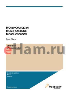 MC908QC16VDSE datasheet - Microcontrollers