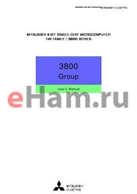 M38007M5-XXXHP datasheet - 8-BIT SINGLE-CHIP MICROCOMPUTER