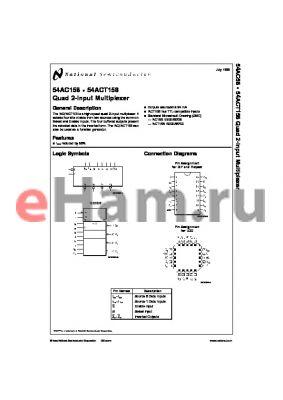 RM54AC158VFA datasheet - Quad 2-Input Multiplexer