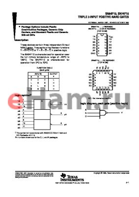 JM38510/33003BCA datasheet - TRIPLE 3-INPUT POSITIVE-NAND GATES