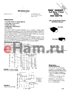 SMBG36C datasheet - Transient Voltage Suppressor