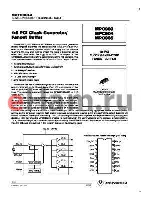 MPC904D datasheet - 1:6 PCI clock generator