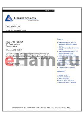 LND-PLL901 datasheet - If quadrture tranceiver