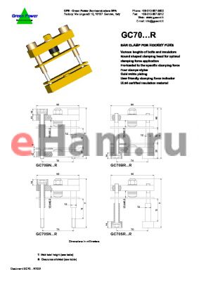 GC70BR9515020R datasheet - Bar clamp for hockey punks