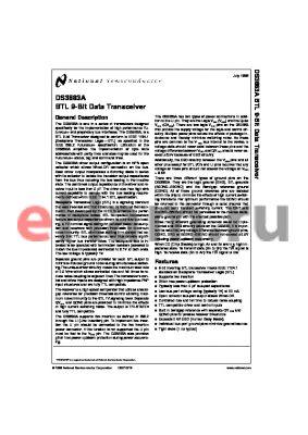 DS3883AVX datasheet - BTL 9-Bit Data Transceiver