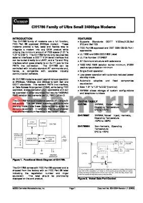 CH1786LCNE datasheet - Ultra small  2400bps modem