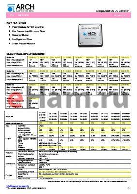 DH24-15S datasheet - 15 V, 15 W, encapsulated DC-DC converter
